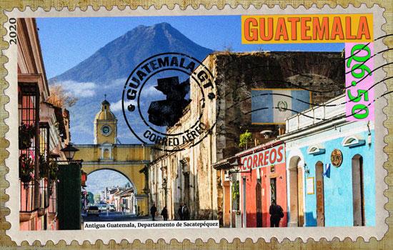 Antigua Guatemala, sello postal