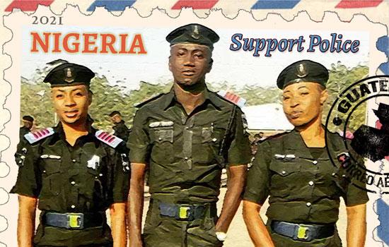 Nigeria Police Postage Stamp
