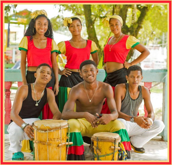 A Garifuna music band with African drums