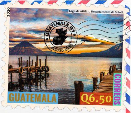 Lago de Atitlán, departamento de Sololá en Guatemala